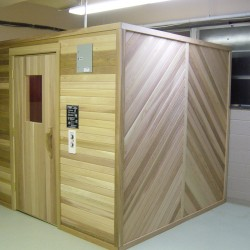 Portable Saunas - commercial modular sauna installed in Philadelphia area YMCA