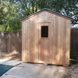 Outdoor saunas - Modular outdoor sauna installed by backyard pool in Baltimore, MD