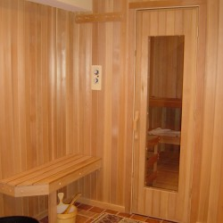 Home Sauna Kits - Custom home sauna with exterior changing area in Park City, Utah