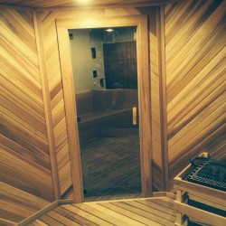 Home Sauna Kits - Custom Home sauna in the Atlanta, GA home of former English Premier League defender
