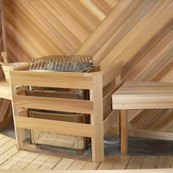 Home Sauna Kits - Custom home sauna with spiral cedar design in Goochland, VA