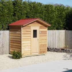 Outdoor Saunas - custom outdoor sauna installed by backyard pool area near Baltimore, MD