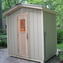 Outdoor saunas - poolside patio sauna