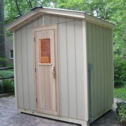 Outdoor saunas - poolside patio sauna