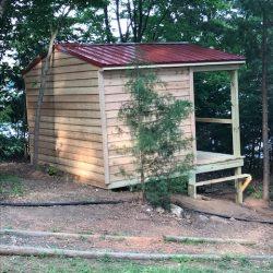 Side view of Lakeside Outdoor Sauna - Smith Mountain Lake, Virginia
