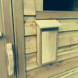 Close-up of Outdoor Custom Sauna
