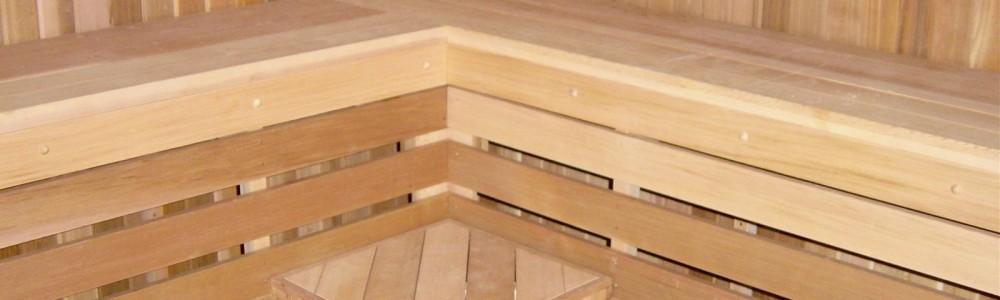 Sauna With Corner Table