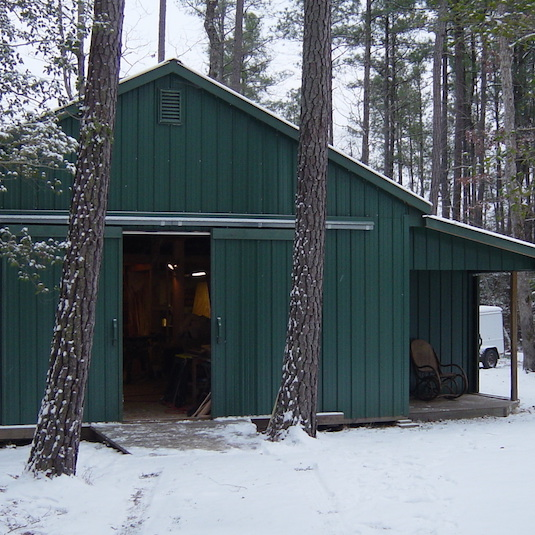 Peterson Sauna - Our workshop in Chesterfield, VA - where our custom saunas are made