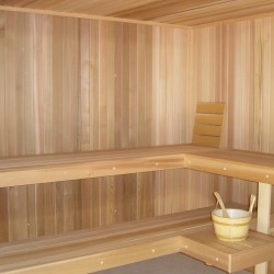 Portable Saunas - Modular Portable sauna with open front for pictures