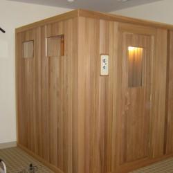 Portable sauna in home gym