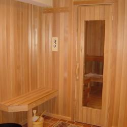 Home Sauna Kits - Custom home sauna with exterior changing area in Park City, Utah