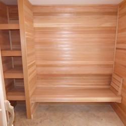 Home Sauna kits - Winter Haven, Florida Job - Changing room view
