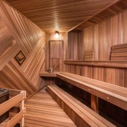 Home Sauna Kits - Custom Home sauna in Hollywood, CA - photo taken for Beverly Hills Lifestyle Magazine