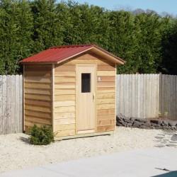Outdoor Saunas - custom outdoor sauna installed by backyard pool area near Baltimore, MD