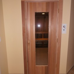 commercial sauna in community fitness center
